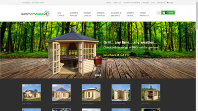 Summerhouse24.co.uk - buy garden rooms and summer houses online UK